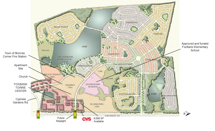 Foxbank Towne Center : Residential Layout Map